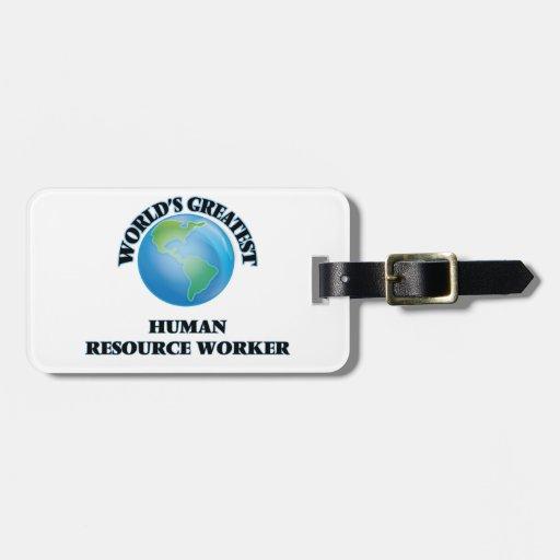 El trabajador más grande del recurso humano del etiquetas para maletas