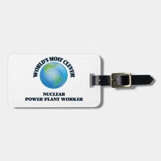 El trabajador más listo de la central el nuclear etiquetas maletas