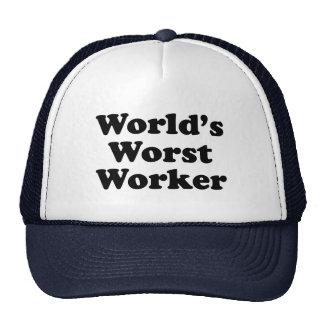 El trabajador peor del mundo gorras de camionero