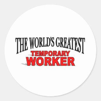 El trabajador temporal más grande del mundo etiquetas redondas