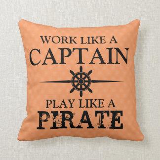El trabajo como un capitán, juego tiene gusto de cojín