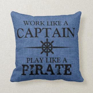 El trabajo como un capitán, juego tiene gusto de cojín decorativo