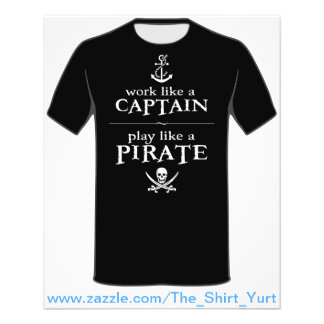 """El trabajo como un capitán, juego tiene gusto de folleto 4.5"""" x 5.6"""""""