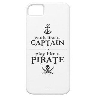 El trabajo como un capitán, juego tiene gusto de funda para iPhone 5 barely there
