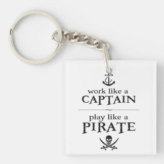 El trabajo como un capitán, juego tiene gusto de llavero cuadrado acrílico a doble cara