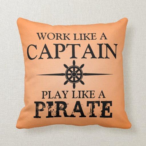 El trabajo como un capitán, juego tiene gusto de u cojines