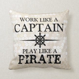 El trabajo como un capitán, juego tiene gusto de u almohadas
