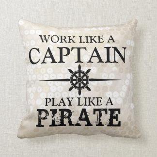 El trabajo como un capitán, juego tiene gusto de u cojín