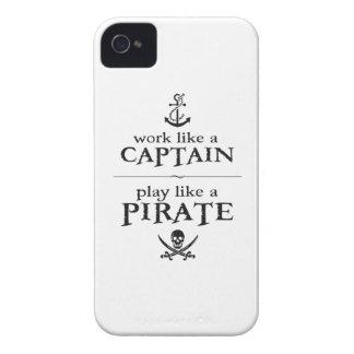 El trabajo como un capitán juego tiene gusto de u iPhone 4 coberturas