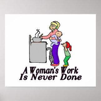 El trabajo de la mujer nunca se hace póster