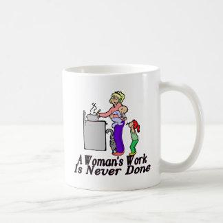 El trabajo de la mujer nunca se hace tazas