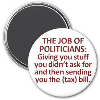 El trabajo de políticos imán redondo 7 cm