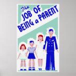 El trabajo de ser un poster del padre
