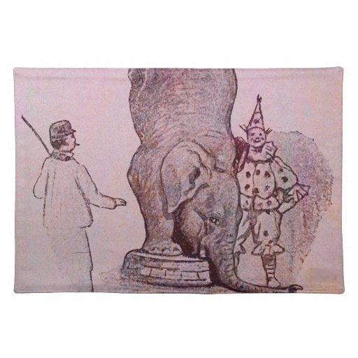 El trabajo de un elefante manteles