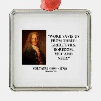 El trabajo de Voltaire nos ahorra aburrimiento de  Ornamento De Reyes Magos