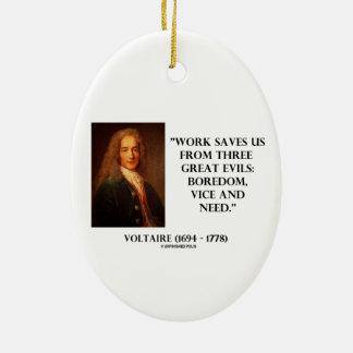 El trabajo de Voltaire nos ahorra aburrimiento de  Ornamentos De Reyes