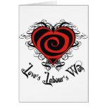 El trabajo del amor ganado tarjetas