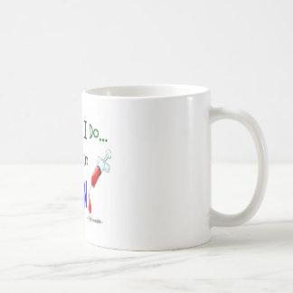 el trabajo del phlebotomist que lo hago está todo taza de café