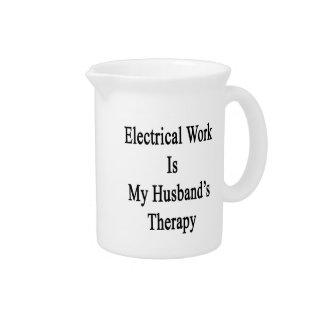 El trabajo eléctrico es la terapia de mi marido jarra para bebida