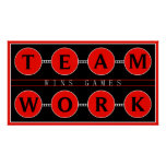 El trabajo en equipo de motivación gana el poster