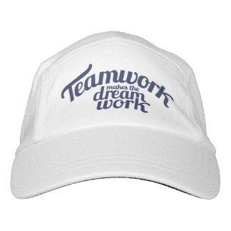 El trabajo en equipo del lema hace el gorra ideal