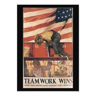 """El trabajo en equipo gana la Segunda Guerra Invitación 5"""" X 7"""""""