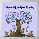 El trabajo en equipo lo hace fácil poster