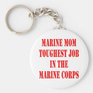 El trabajo más duro de la MAMÁ del USMC en el Cuer Llaveros Personalizados