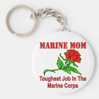 El trabajo más duro de la mamá marina del USMC en  Llavero Personalizado