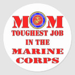 El trabajo más duro de la mamá marina del USMC en Pegatinas Redondas