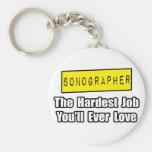 El trabajo más duro de Sonographer… que usted amar Llavero Personalizado