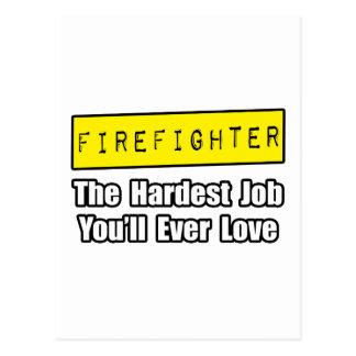 El trabajo más duro del bombero… que usted amará n tarjeta postal