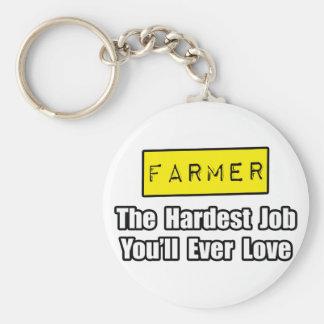 El trabajo más duro del granjero… que usted amará llavero personalizado