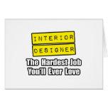 El trabajo más duro del interiorista… que usted am tarjeta