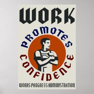 El trabajo promueve confianza impresiones
