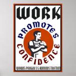 El trabajo promueve el poster de WPA de la confian