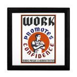 El trabajo promueve el poster de WPA de la confian Caja De Recuerdo