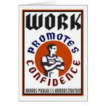 El trabajo promueve el poster de WPA de la confian Tarjeton