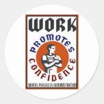 El trabajo promueve el poster de WPA de la Etiquetas Redondas