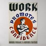 El trabajo promueve la confianza - poster promocio