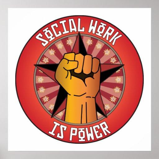 El trabajo social es poder poster