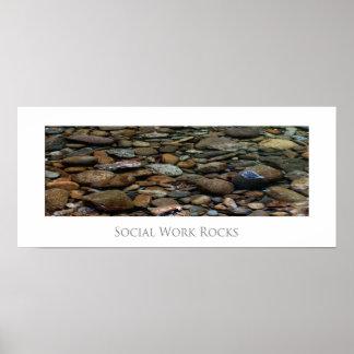 El trabajo social oscila el poster