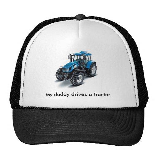 El tractor azul, mi papá conduce un tractor gorras de camionero