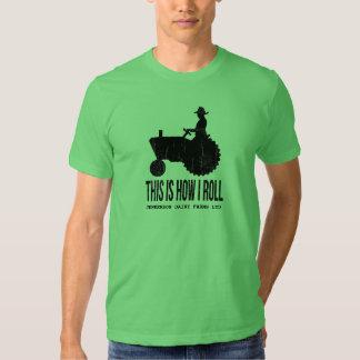 El tractor de granja personalizado esto es cómo camisas