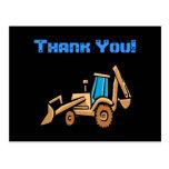 ¡el tractor de la construcción, cumpleaños le agra tarjeta postal