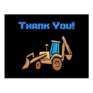 ¡el tractor de la construcción, cumpleaños le postal