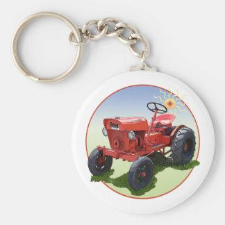 El tractor de la economía llavero redondo tipo pin