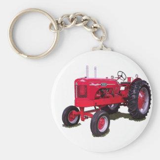 El tractor de las salas llavero redondo tipo pin