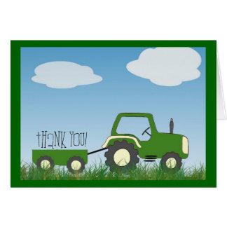 El tractor le agradece cardar -- ¡interior lindo tarjeta pequeña
