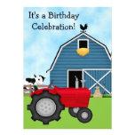 El tractor rojo y el cumpleaños azul del granero i comunicado